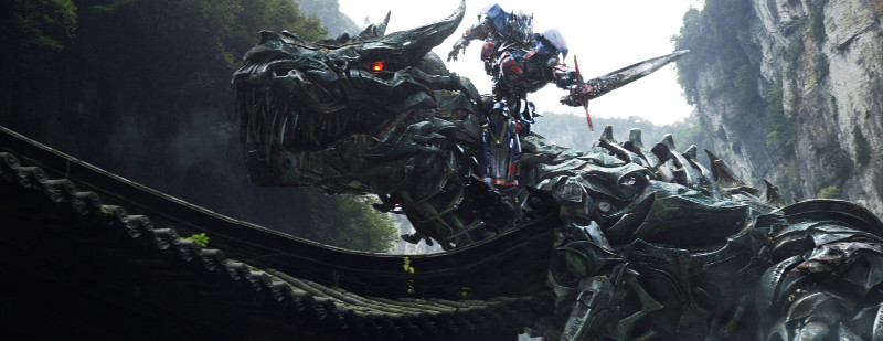 Transformers 4 Age of Extinction Optimus Prime rides Grimlock Film
